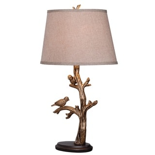 Greatwood Perched Birds Bronze Finish Artistic Sculpture Table Lamp