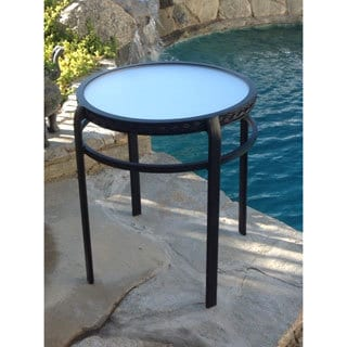 Lanai Patio Furniture Acrylic Midnight Black Top End Table