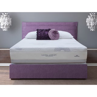 Laura Ashley Blossom Plush Queen-size Mattress and Foundation Set