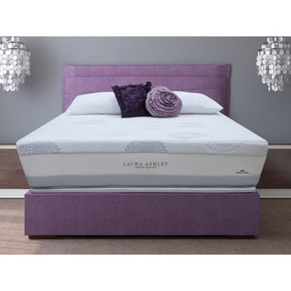 Laura Ashley Blossom Plush Super Size Twin-size Mattress and Foundation Set