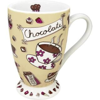 Konitz Mugs Chocolate Design Light Brown (Set of 2)