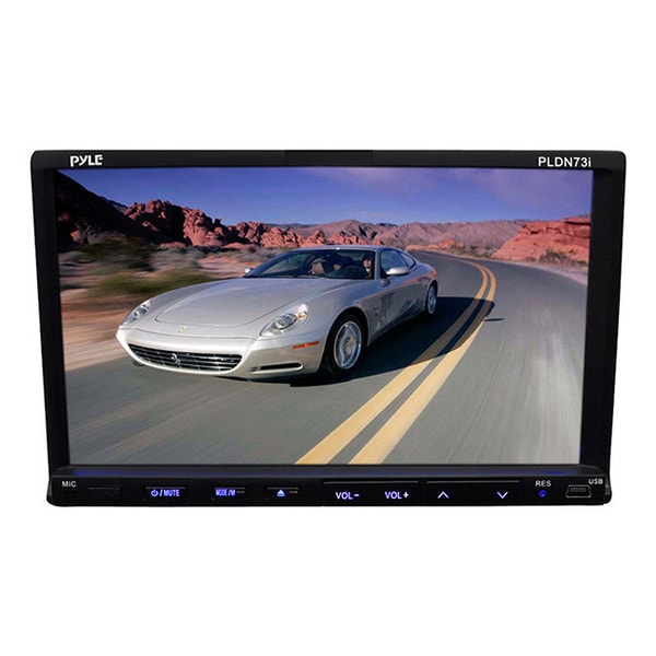 "Pyle PLDN73I 7"" Double DIN Touchscreen DVD/CD/MP3 USB/SD AM/FM Receiver w/remote (Refurbished)"
