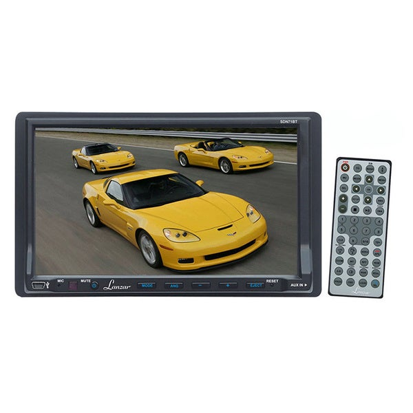 "Lanzar SDN71BT 7"" Double-DIN Touchscreen Bluetooth DVD/CD/MP3/ USB/SD AM/FM Receiver W/ Remote (Refurbished)"