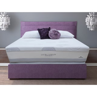 Laura Ashley Blossom Plush Super Size Full-size Mattress and Foundation Set