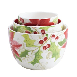 Paula Deen 'Holiday Floral' 3-Piece Nested Bowl Set