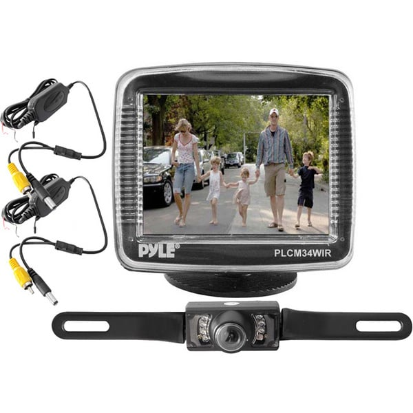 "Pyle PLCM34WIR 3.5"" Monitor Wireless Back-Up Rearview & Night Vision Camera System (Refurbished)"