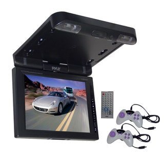 "Pyle PLRD103IF 10.4"" TFT LCD Flip-Down Roof Mount Multimedia Disc Monitor & IR/FM Transmitter (Refurbished)"