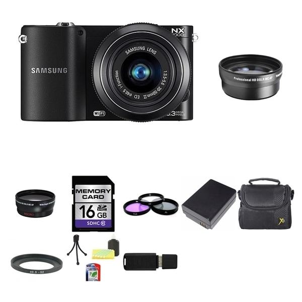 Samsung NX1000 Mirrorless Digital Camera 20-50mm Lens 16GB Bundle 12042962