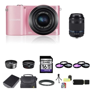 Samsung NX1000 Mirrorless Camera 20-50mm and 50-200mm Lens 16GB Bundle