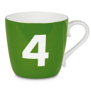 Konitz 'Number 4' Design Collectible Bone China Apple Green Mug