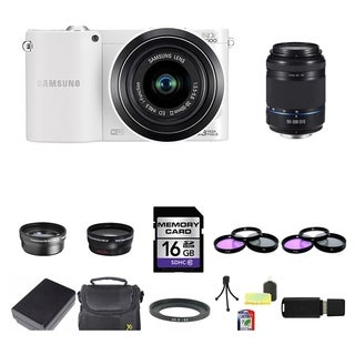 Samsung NX1100 Mirrorless Camera 20-50mm and 50-200mm Lens 16GB Bundle
