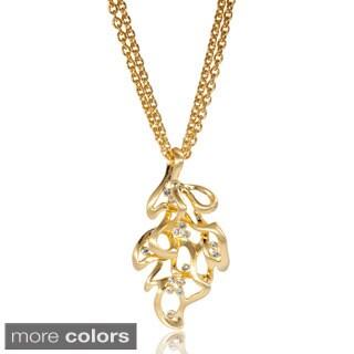 Sculpted Leaf Pendant Necklace