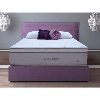 Laura Ashley Blossom Euro Pillowtop King-size Mattress and Foundation Set