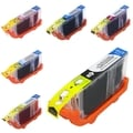 BasAcc 6-Ink Ink Cartridge Set Compatible with Canon BCI-6