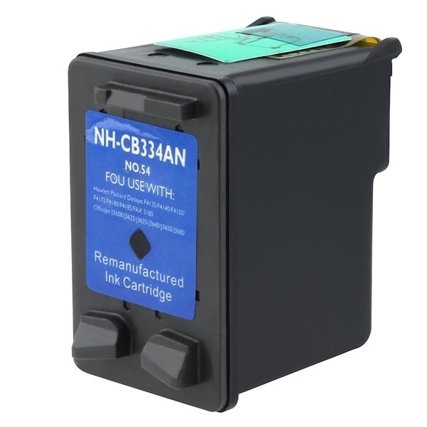 INSTEN HP 54 Black Ink Cartridge (Remanufactured)