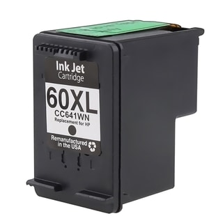 INSTEN HP 60XL Black Ink Cartridge (Remanufactured)