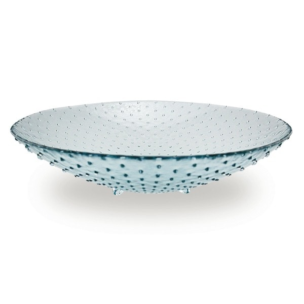 Large 16-inch Glass Footed Bowls (Set of 2)