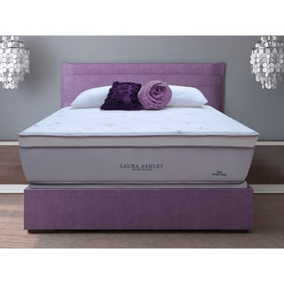 Laura Ashley Blossom Euro Pillowtop Super Size Twin-size Mattress and Foundation Set