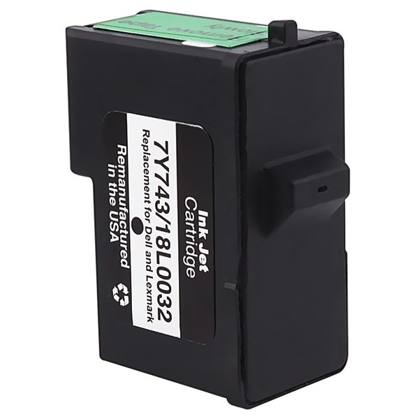 INSTEN Lexmark 82/ Dell 7Y743 Black Ink Cartridge (Remanufactured)
