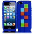 BasAcc Dark Blue Block Silicone Case for Apple iPhone 5