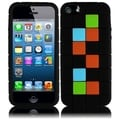 BasAcc Black Block Silicone Case for Apple iPhone 5