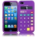 BasAcc Purple Calculator Silicone Case for Apple iPhone 5