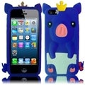 BasAcc Blue Cute Pig Silicone Case for Apple iPhone 5