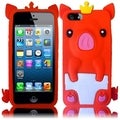 BasAcc Red Cute Pig Silicone Case for Apple iPhone 5