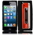 BasAcc Black Cassette Silicone Case for Apple iPhone 5