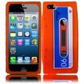 BasAcc Orange Cassette Silicone Case for Apple iPhone 5