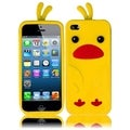 BasAcc Yellow Funny Duck Silicone Case for Apple iPhone 5