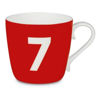 Konitz 'Number 7' Design Collectible Bone China Strawberry Red Mug