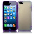 BasAcc Clear/ Purple TPU Case with Point for Apple iPhone 5