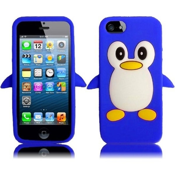 BasAcc Blue Penguin Silicone Case for Apple iPhone 5