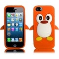 BasAcc Orange Penguin Silicone Case for Apple iPhone 5