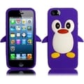 BasAcc Purple Penguin Silicone Case for Apple iPhone 5