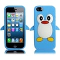 BasAcc Sky Blue Penguin Silicone Case for Apple iPhone 5