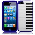 BasAcc Blue Piano Silicone Case for Apple iPhone 5