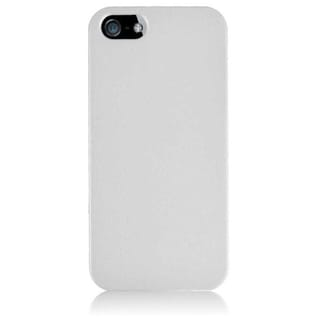 BasAcc White Hard PC Glossy Snap-on Phone Case Cover for Apple iPhone 5/ 5S