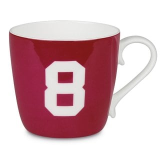 Konitz 'Number 8' Design Collectible Bone China Ruby Red Mug