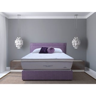 Laura Ashley Blossom Euro Pillowtop Super Size Queen-size Mattress and Foundation Set