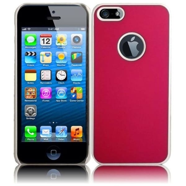 INSTEN Hot Pink Rubberized Hard Plastic Snap-on Phone Case Cover for Apple iPhone 5/ 5S