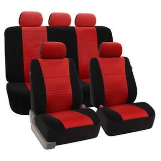FH Group Red 'Trendy Elegance' Car Seat Covers (Full Set)