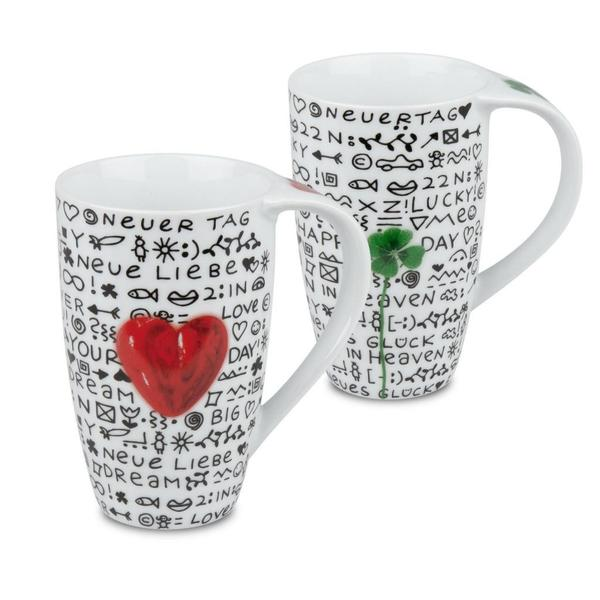 Konitz Love & Luck Mugs (Set of 4)