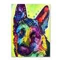 Dean Russo 'German Shepherd' Canvas art