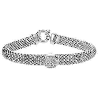Tressa Collection Italian Sterling Silver Cubic Zirconia Bracelet