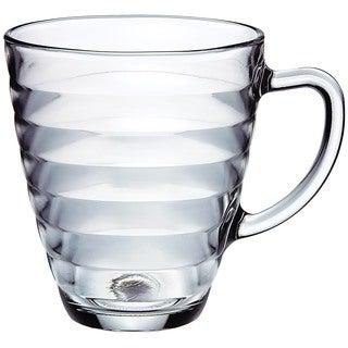 Viva 10.5-ounce Glass Coffee Mugs (Set of 4)