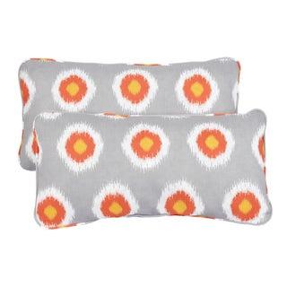 Ikat Citrus Dots Corded 12 x 24 Inch Indoor/ Outdoor Lumbar Pillows (Set of 2)