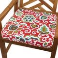 Red Floral 20-inch Indoor/ Outdoor Corded Chair Cushion