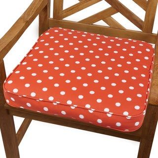 Orange Dot 20-inch Indoor/ Outdoor Corded Chair Cushion